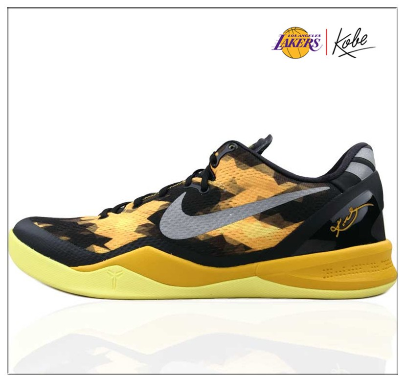 Beautiful Nike Kobe VIII 8 System XDR Black Yellow