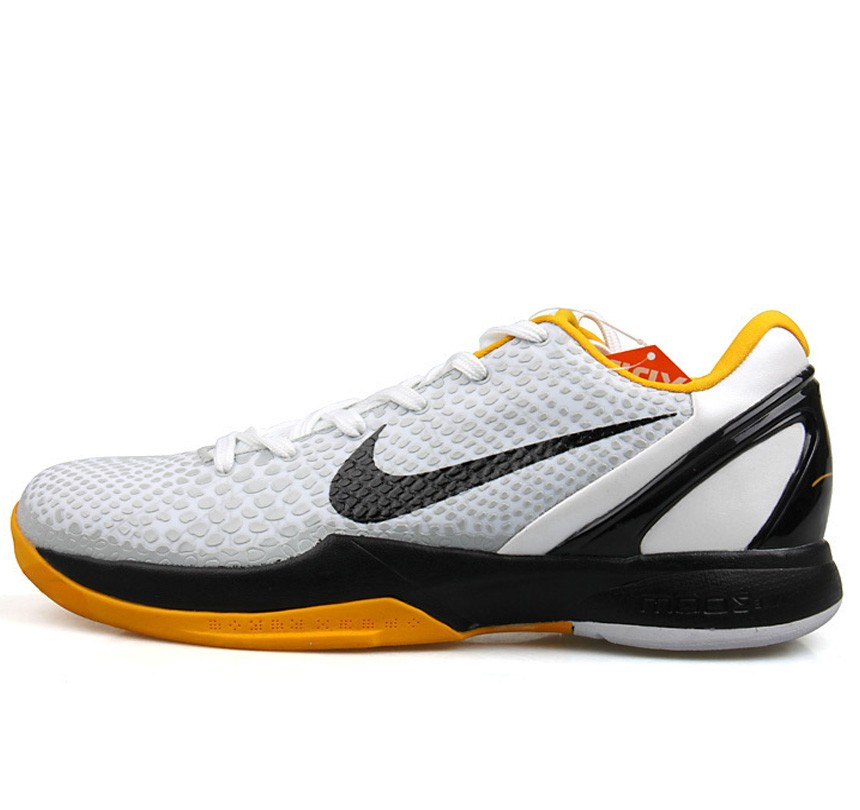 Classic Nike Kobe VIII 8 Zoom low white black yellow Shoes