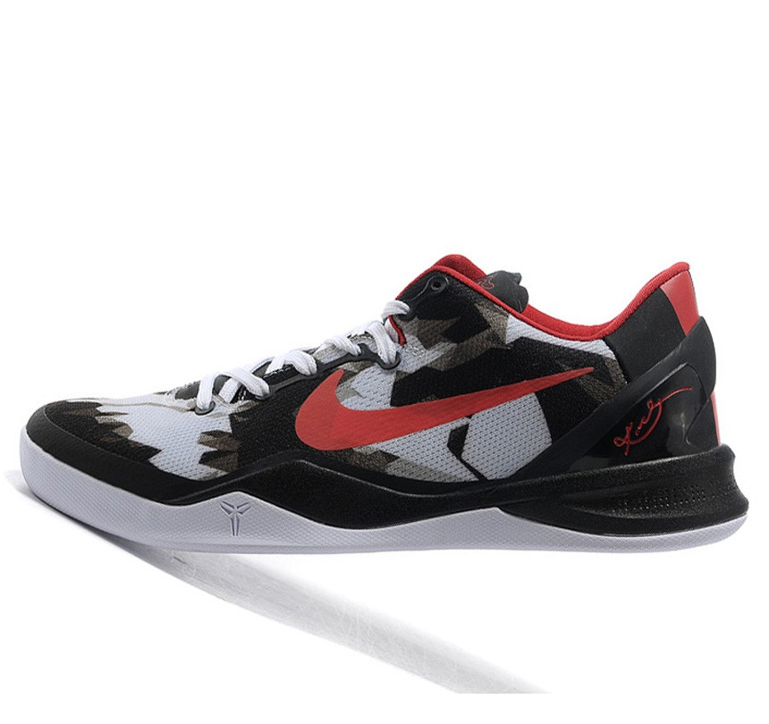 Fabulous Nike Kobe VIII 8 Zoom System white black red Shoes