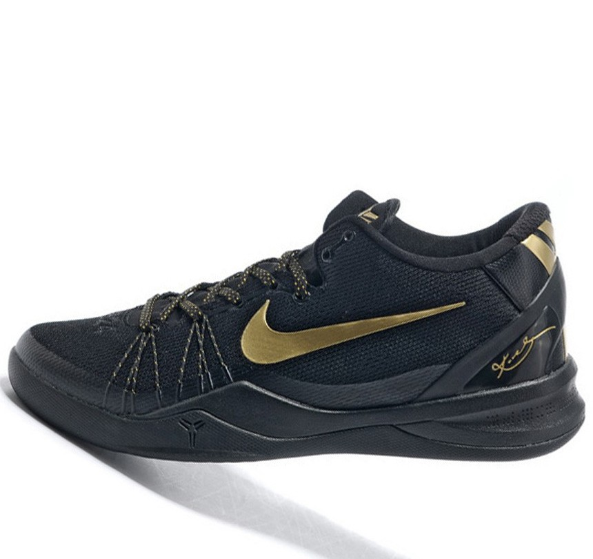 Fabulous Nike Kobe VIII 8 System black golden Shoes